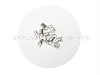 Наконечник для шнура, 2.0-3.5 мм, колір нікель