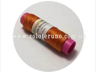 Нитка бісерна Ariadna 100м, колір оранжевий