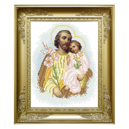 Схема для вишивки бісером- Св. Йосиф та Ісус. КРМ-34
