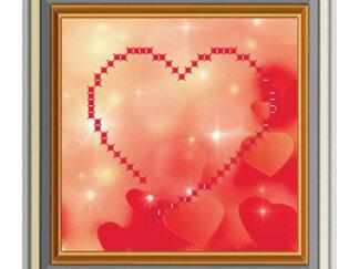 Схема на атласі для вишивки бісером - Серце. МЛ-3