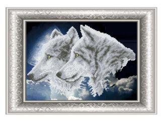 Схема для вишивки бісером. Вовки. СКМ-181