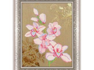 Схема на атласі для вишивки бісером - Гілка орхідеї. СКМ-98