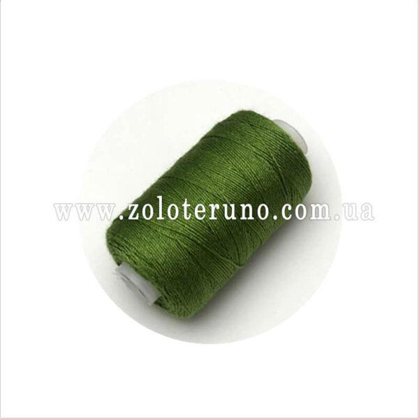 Нитки джинсові, колір зелений