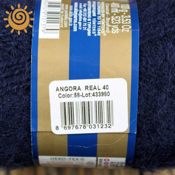 Alize Angora Real 40 58 темно-синій 3