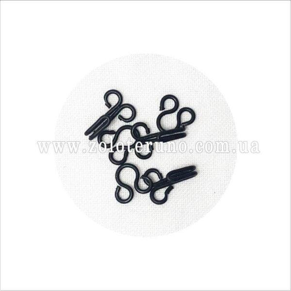 Гачок до одягу, 10 мм, колір чорний