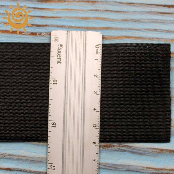 Резинка еластична 60 мм, колір чорний 1