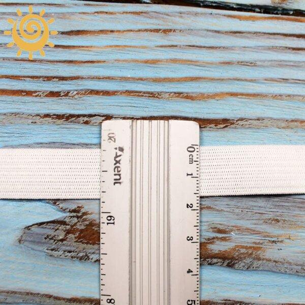 Резинка еластична 15 мм, колір білий 1