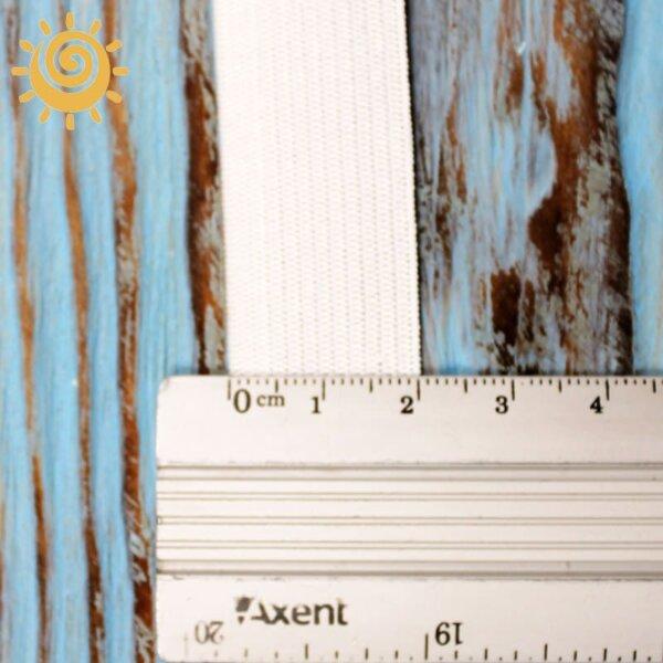 Резинка еластична 30 мм, колір білий 1