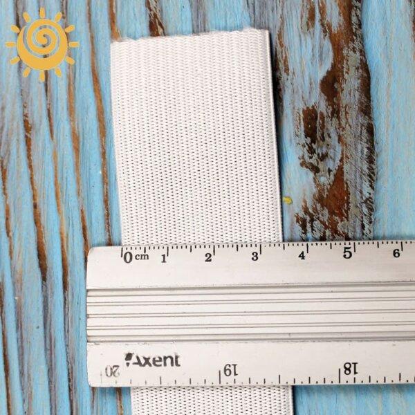 Резинка еластична 35 мм, колір білий 1