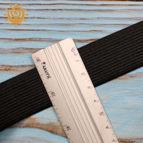 Резинка еластична 30 мм, колір чорний 1