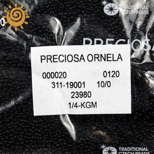 23980 Бісер №10 Чехія (натуральний, чорний) 1