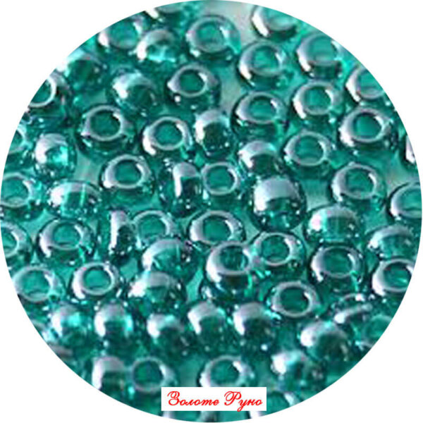 Бисер зеленый номер56710