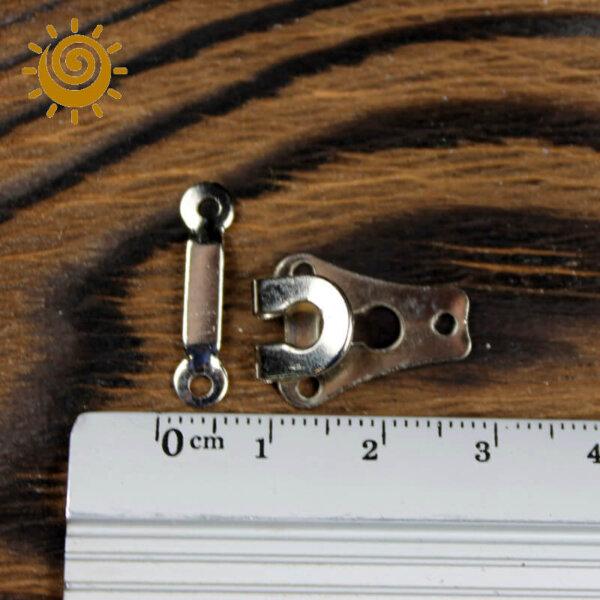 Гачок пришивний до штанів (пластина), колір нікель 2