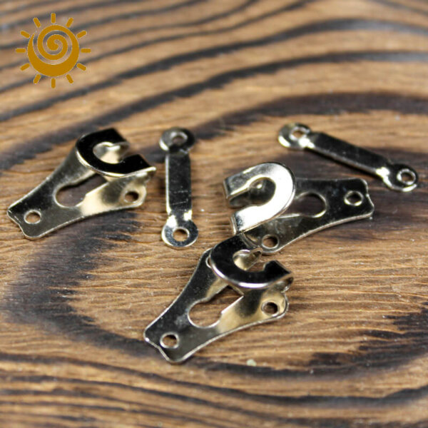 Гачок пришивний до штанів (пластина), колір нікель 1