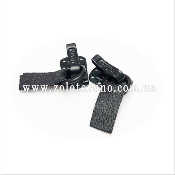 Застібка для шуб. Виробництво Польща колір чорний