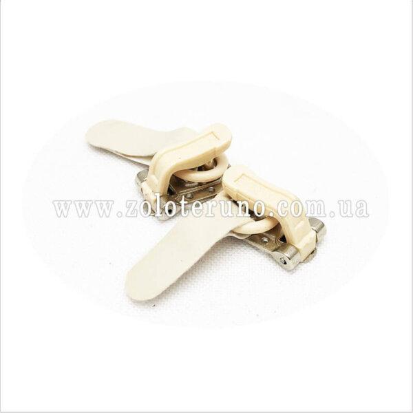 Застібка для шуб, колір білий