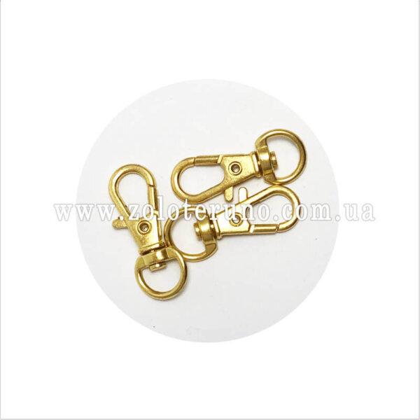 Карабін металевий 9мм, колір золотий
