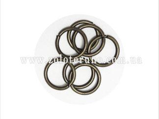 Кільце металеве, колір антик, 14 мм