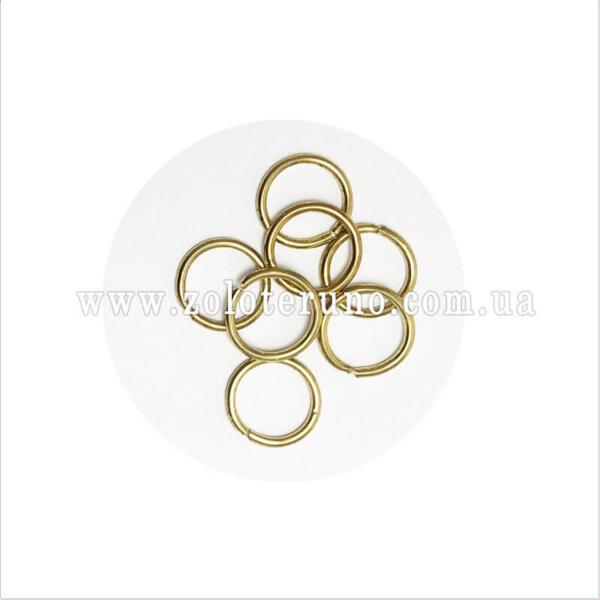 Кільце металеве, колір золото, 14 мм