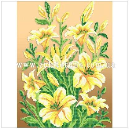 СВ-3018. Схема для вишивки бісером Квітучі лілії