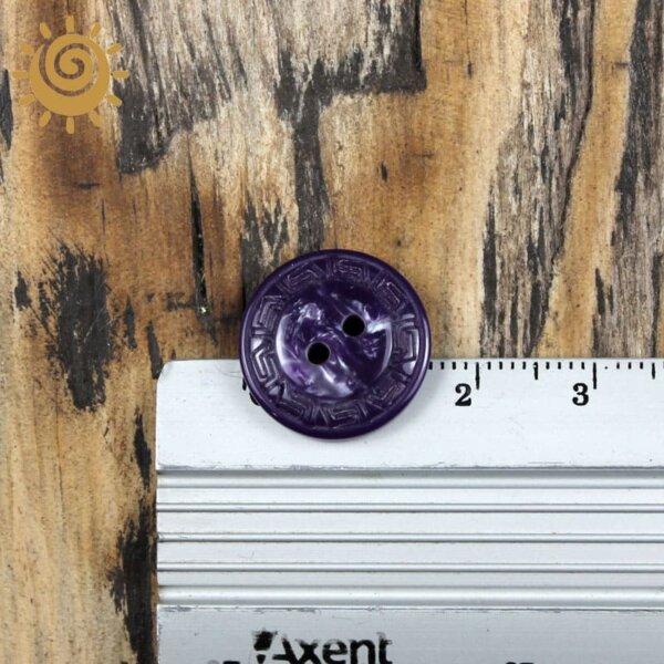 Гудзик на два удари для пальта колір фіолетовий 15 мм