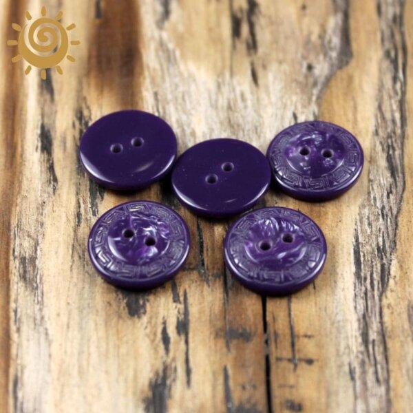 Гудзик на два удари для пальта колір фіолетовий