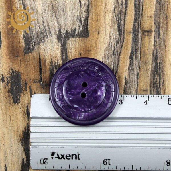 Гудзик на ніжці для пальта колір фіолетовий 18мм