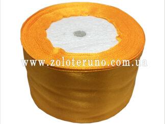 Стрічка атласна 50 мм жовта