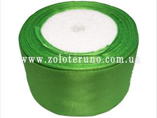 Стрічка атласна 50 мм світло-зелена