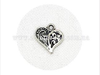 Кулон серце 2 половинки