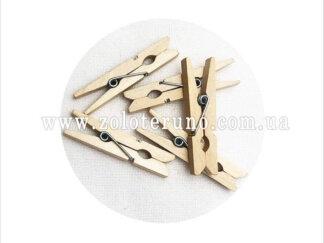 Прищіпка дерев'яна декоративна, 40 мм