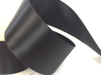 Стрічка атласна 50 мм, колір чорна