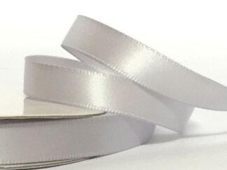 Стрічка атласна 25 мм, колір срібний