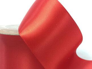 Стрічка атласна 50 мм, колір червона