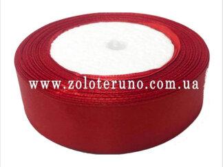 Стрічка атласна 25 мм, колір червоний