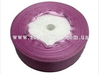 Стрічка атласна 25 мм, колір рожевий