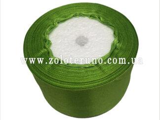 Стрічка атласна 50 мм зелена