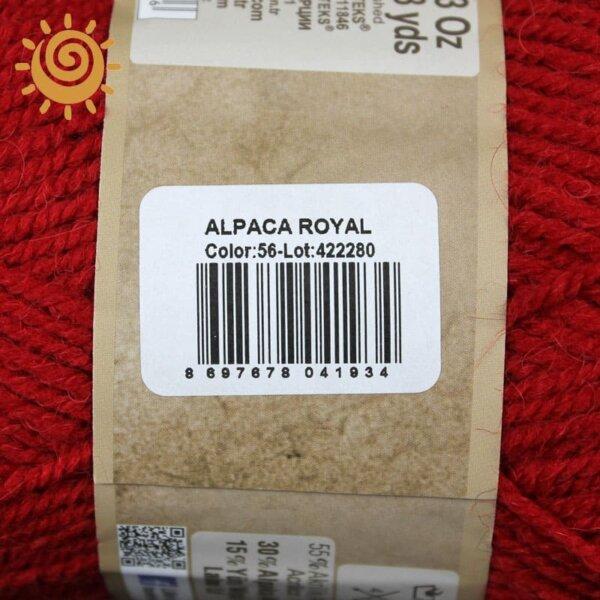 Alize Alpaca Royal 56 червоний 2