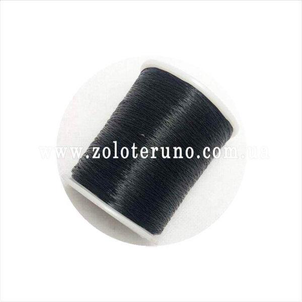 Жилка для браслета на котушке, колір чорний