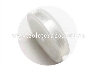 Силіконова (еластична) нитка, 0.8 мм, колір білий