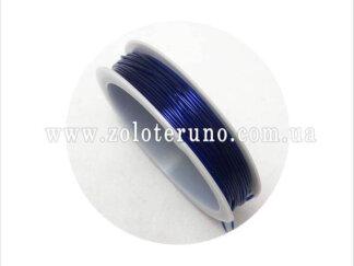 Силіконова (еластична) нитка, 0.8 мм, колір фіолетовий