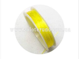 Силіконова (еластична) нитка, 0.8 мм, колір жовтий