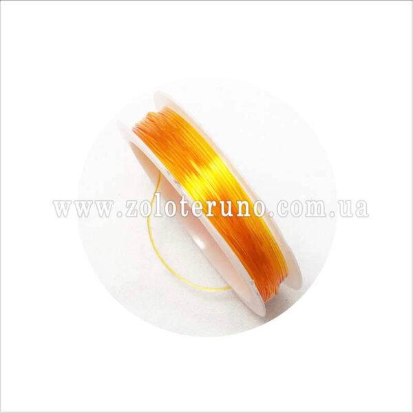 эластичная нить для браслетов, 0.8 мм, колор желтый