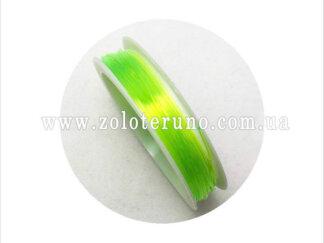 Силіконова (еластична) нитка, 0.8 мм, колір салатовий