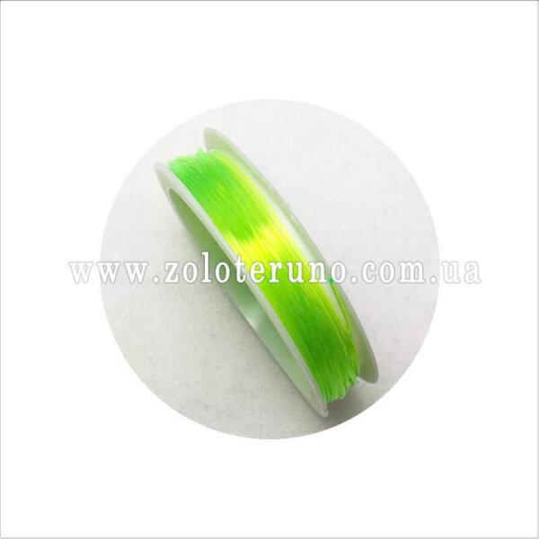 Силиконовая нить, 0.8 мм, колор салатовый