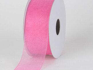 Стрічка органза 50 мм. Колір рожевий