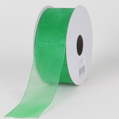 Стрічка органза 50 мм. Колір зелений