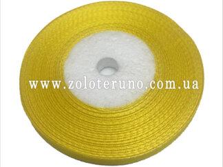 Стрічка атласна 7 мм, колір жовтий