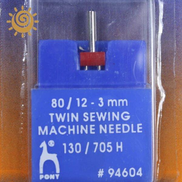 Голка до швейної машинки №80, подвійна Pony (Індія)