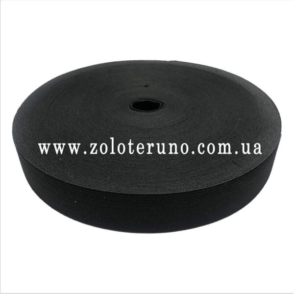 Резинка еластична/Тесьма эластичная колір чорний
